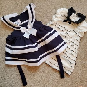 ♡♡ 2 adorable girls dresses 12 month